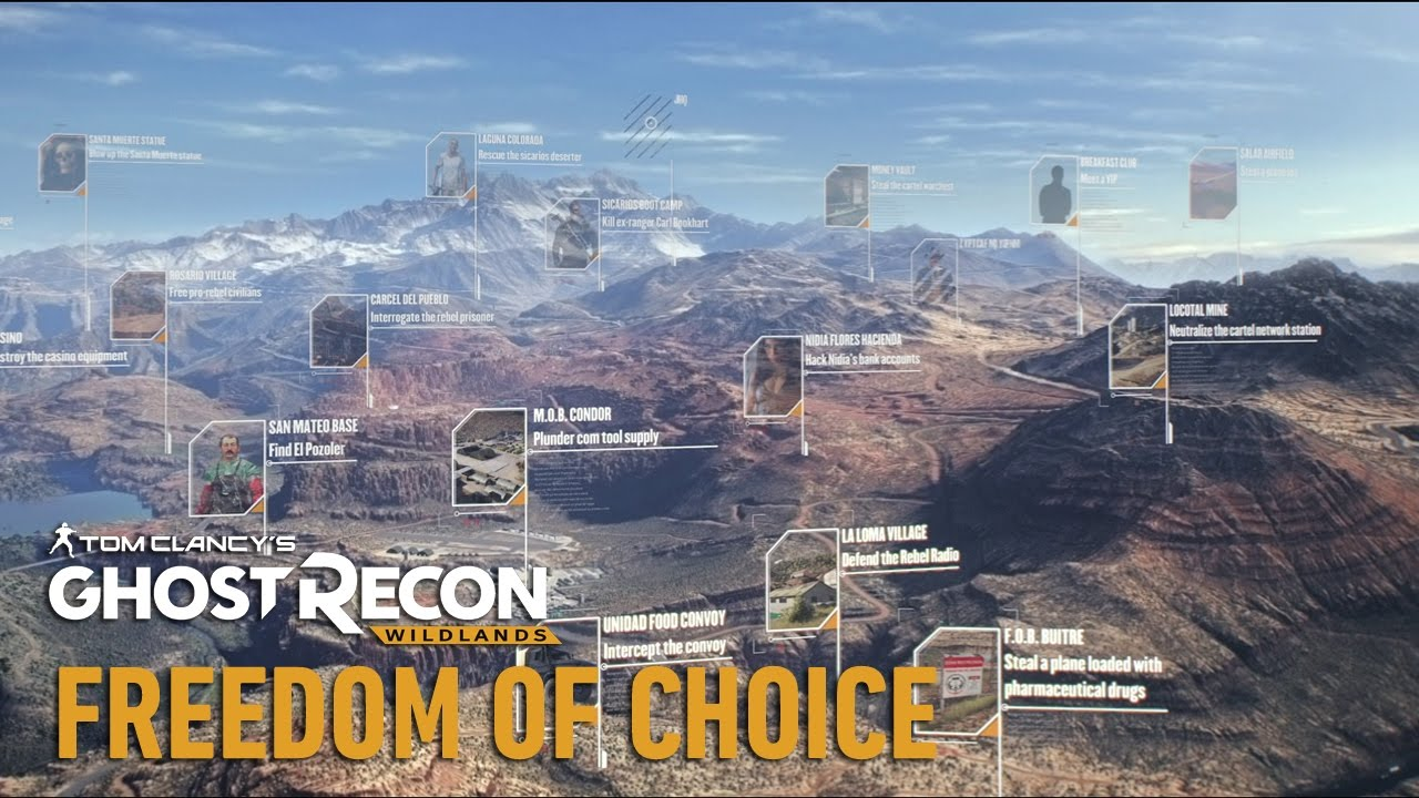 Свобода выбора в Tom Clancy's Ghost Recon Wildlands